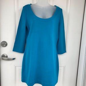 St. John turquoise scoop neck short dress / tunic